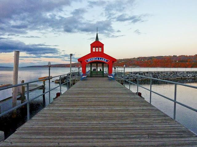 Muelle en el Seneca Lake, Estado de Nueva York