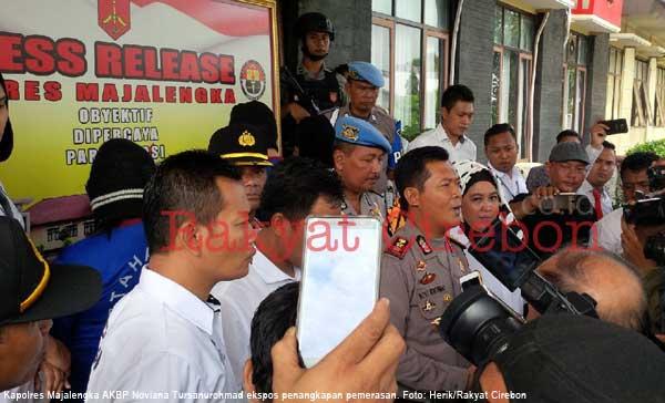 polres majalengka tangkap tiga pemeras berkedok wartawan
