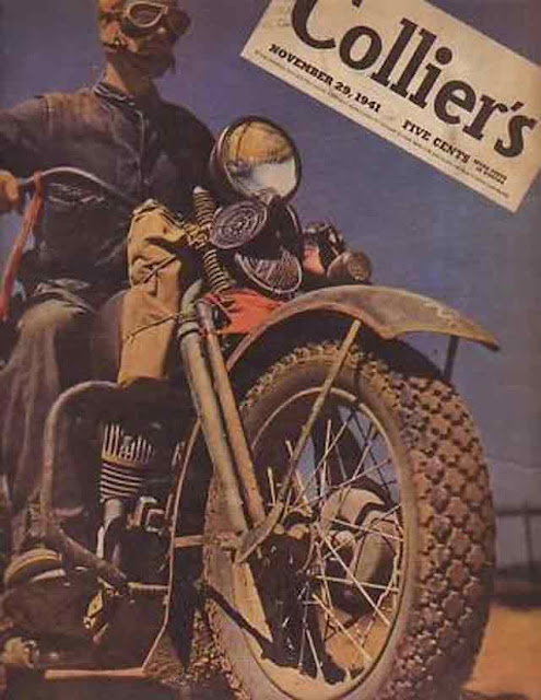 Colliers featuring a motorcycle on the cover, 29 November 1941 worldwartwo.filminspector.com
