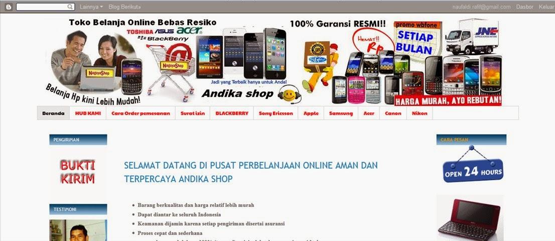 Review Toko Online Andika Shop Penipu