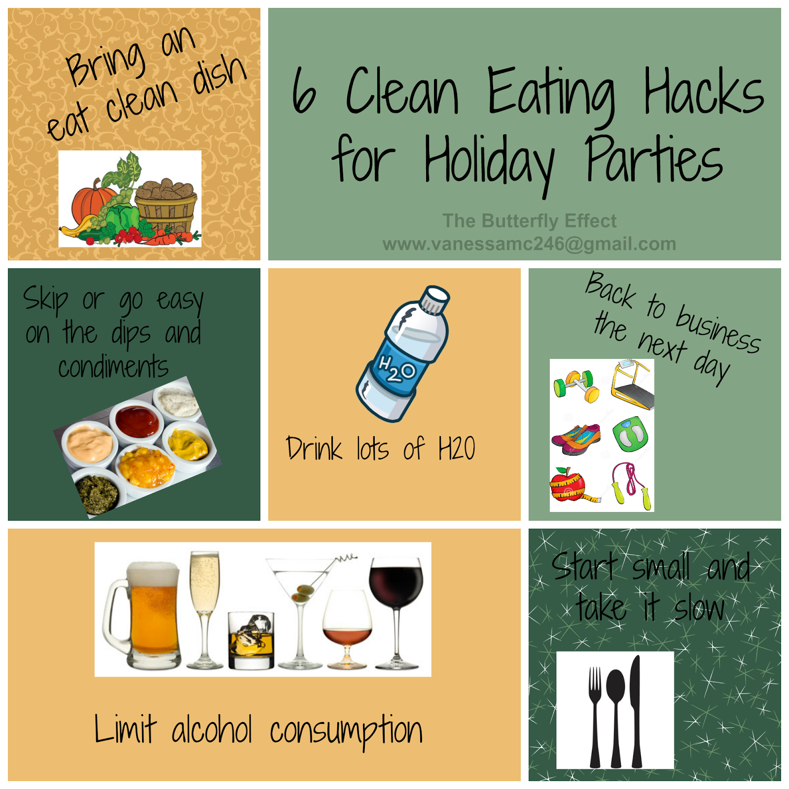 6 Clean Eating Hacks for Holiday parties, The Butterlfy Effect, Vanessa McLaughlin