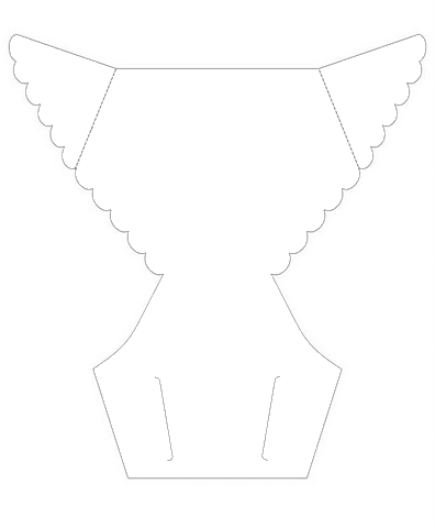 Diaper Template for Envelopes or Invitations.