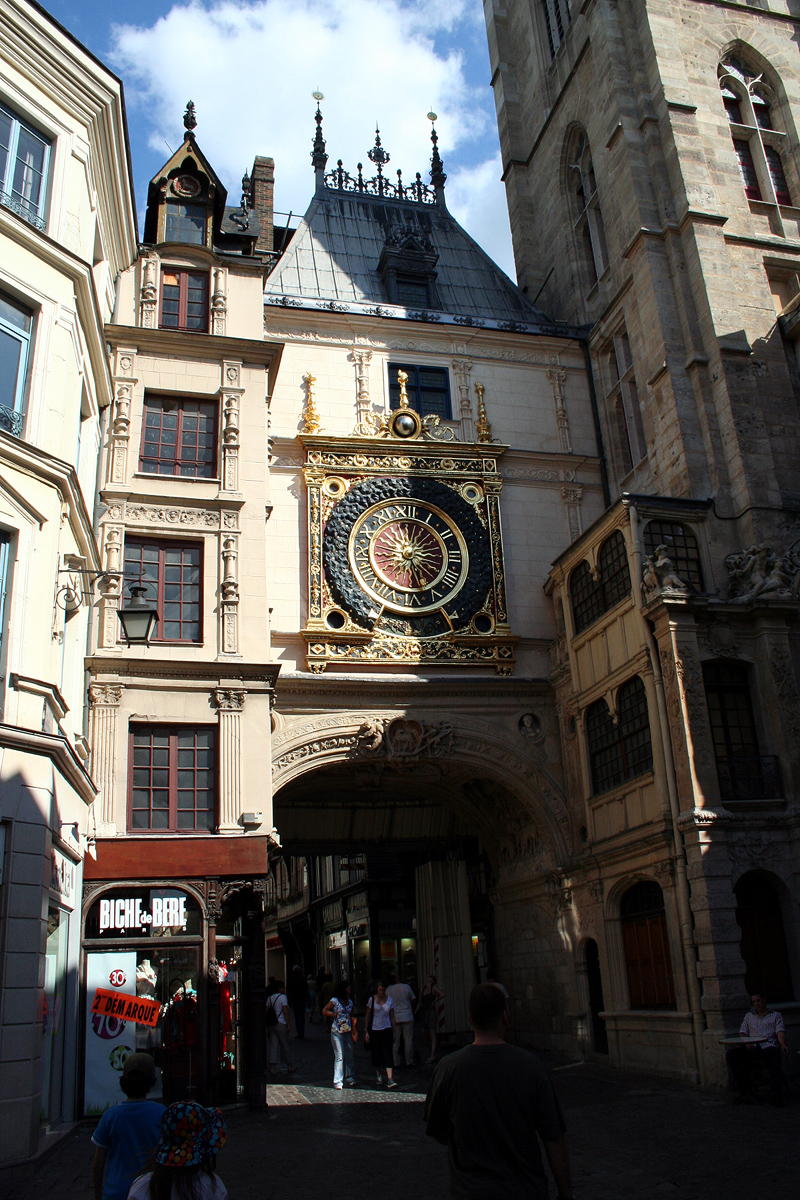 Gros Horloge or Big Clock dates back to the 14th century. Photo: Jean-noël Lafargue. Unauthorized use is prohibited.