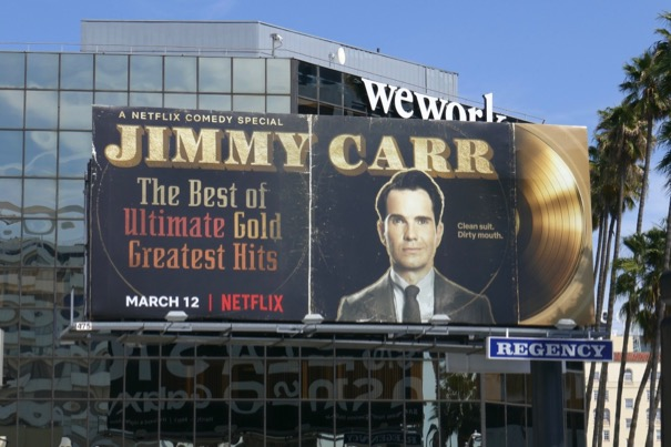 Jimmy Carr Greatest Hits Netflix billboard
