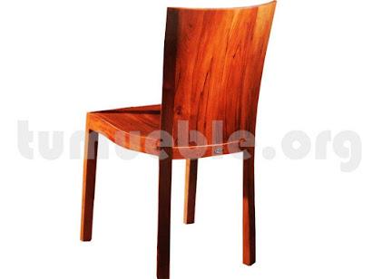 silla comedor en teca 4008