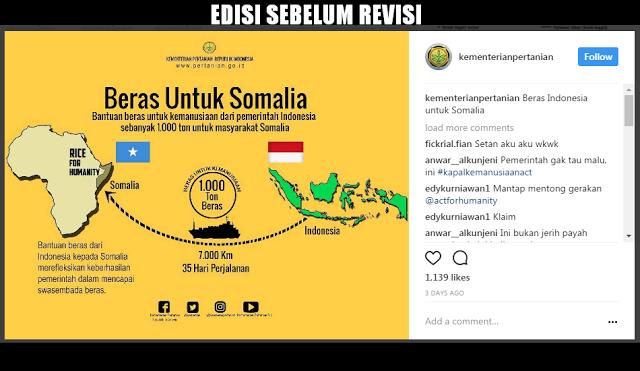 """Setelah Diprotes Netizen, Kementan RI Akhirnya Revisi """"Program Beras Untuk Somalia"""" dari ACT dan Masyarakat Indonesia"""