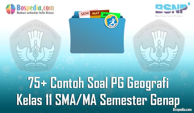 75+ Contoh Soal PG Geografi Kelas 11 SMA/MA Semester Genap Terbaru