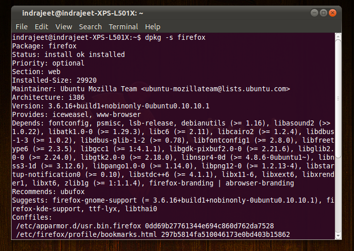 26 How to check Version of a Package Is Installed on Ubuntu