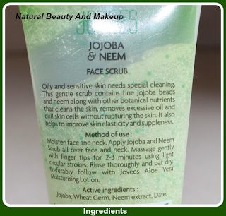 Jovees Joojba & Neem scrub- Ingredients