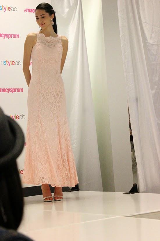 Pink Lace Dress Prom Dress 2015