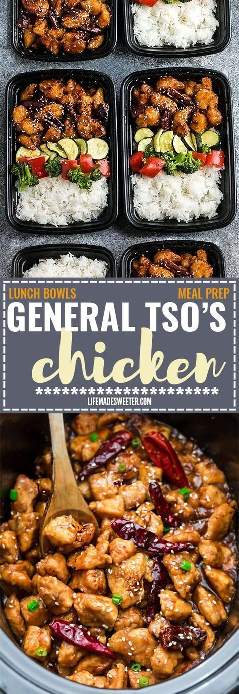 Slow Cooker General Tso's Chicken (+ Instant Pot)