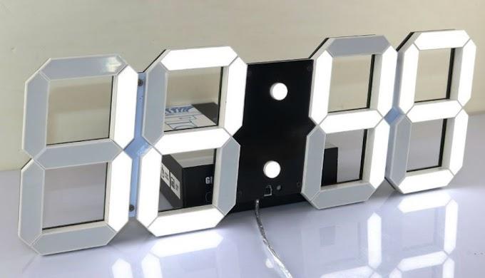 Đồng hồ Led 3D treo tường cao cấp khách sạn