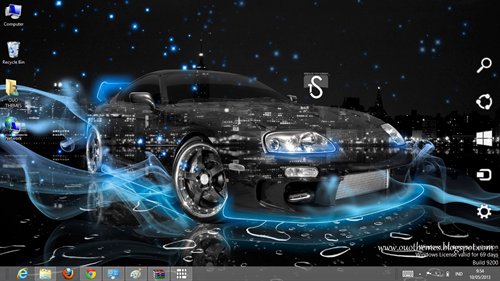 Super cars crystal effect theme for windows 7 and 8 season - Car wallpaper for windows 7 ...
