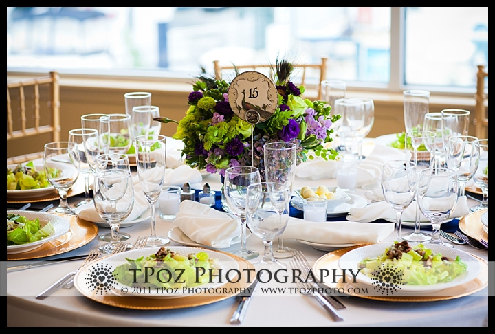 Tabrizi's wedding table setting