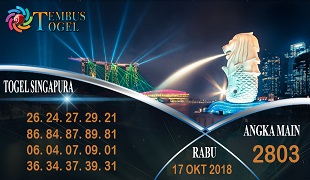 Prediksi Angka Togel Singapura Rabu 17 Oktober 2018