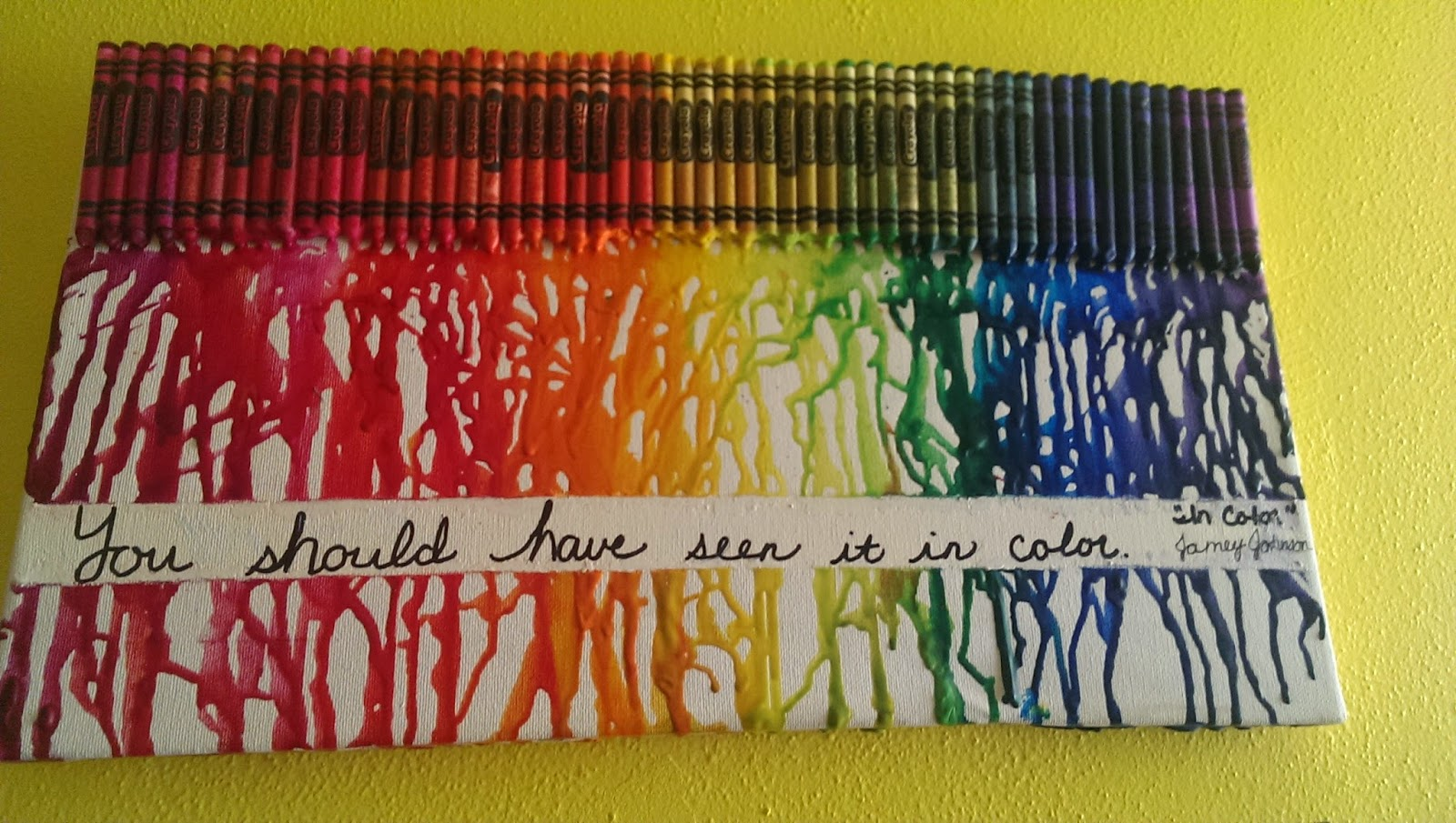 Sweet Studied A Little About The Nervous And Endocrine Systems As Well Early America She Also Finished Her Melted Crayon Art