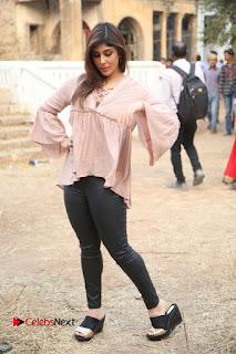 Telugu Actress Aditi Singh Stills in Leather Pants at Nenu Kidnap Iyanu Movie Press Meet  0233.JPG