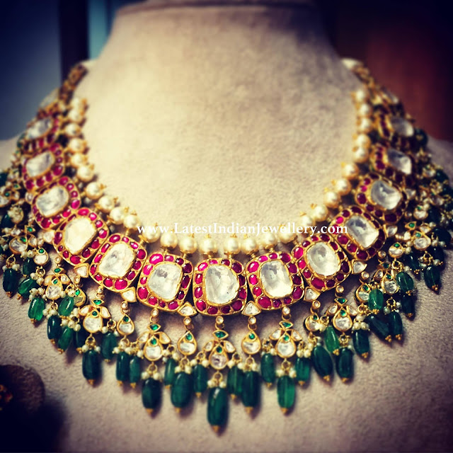 Polki Highlighted Kundan Necklace