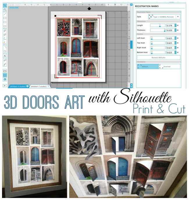 Silhouette Cameo, Silhouette print and cut, 3D door art