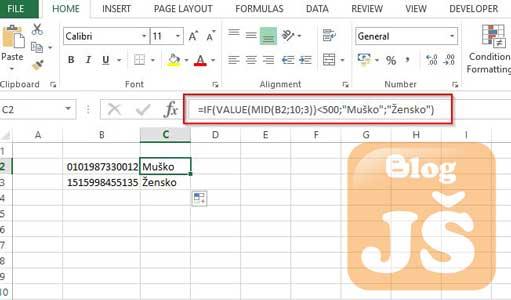 Kako iz JMBG broja izvući informaciju o polu?