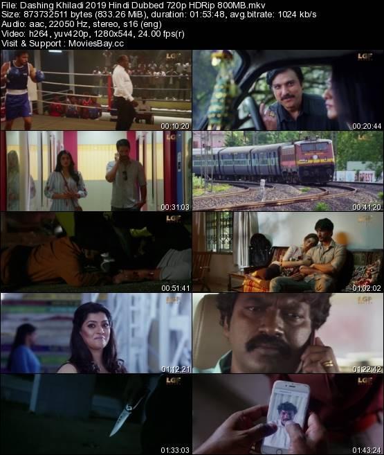 Dashing Khiladi 2019 Hindi Dubbed 720p HDRip 800MB