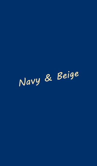 Navy & beige