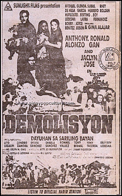 Demolisyon, Anthony Alonzo, Ronald Gan, Jaclyn Jose