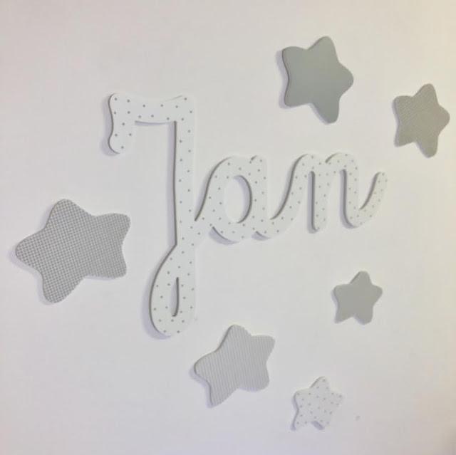 Nombre de niño para la pared y estrellas