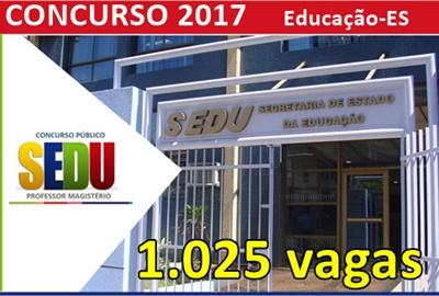 Concurso SEDU ES 2017 - Edital