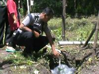 Semburan Air Kapur Jadi Fenomena di Ponorogo