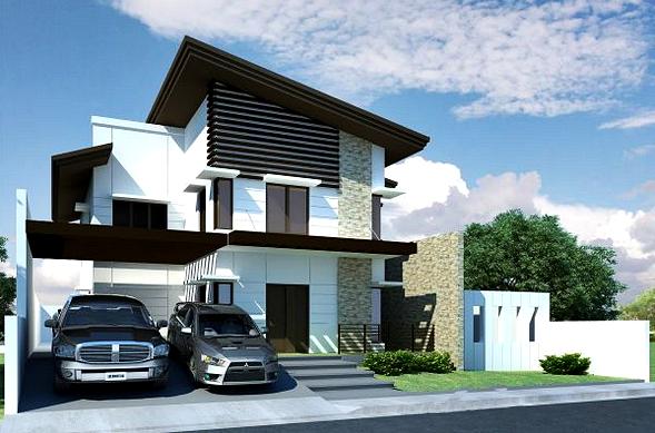 Gambar Desain Rumah Minimalis 2 Lantai Bergaya Cluster