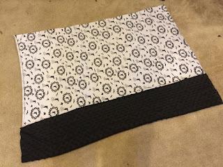Pillowcase fabric cut to size.