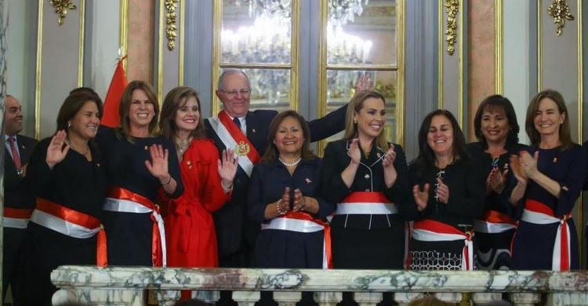 Gobierno incrementa a 7 el número de mujeres ministras en el Gabinete