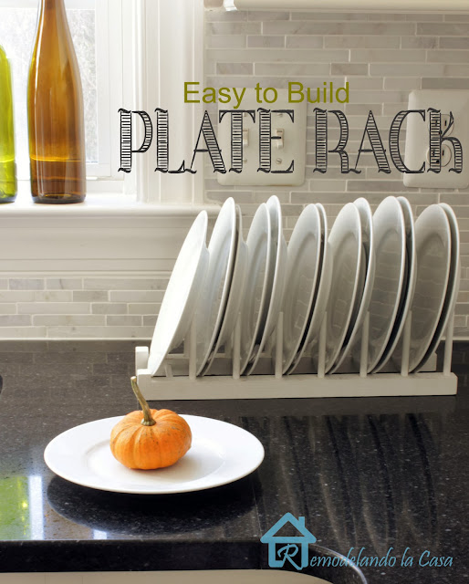 DIY - Inside Cabinet Plate Rack - Remodelando la Casa