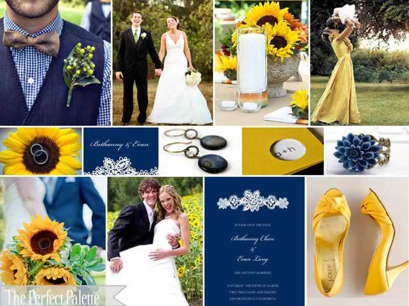 {Here Comes The Sun}: A Palette Of Navy Blue & Yellow