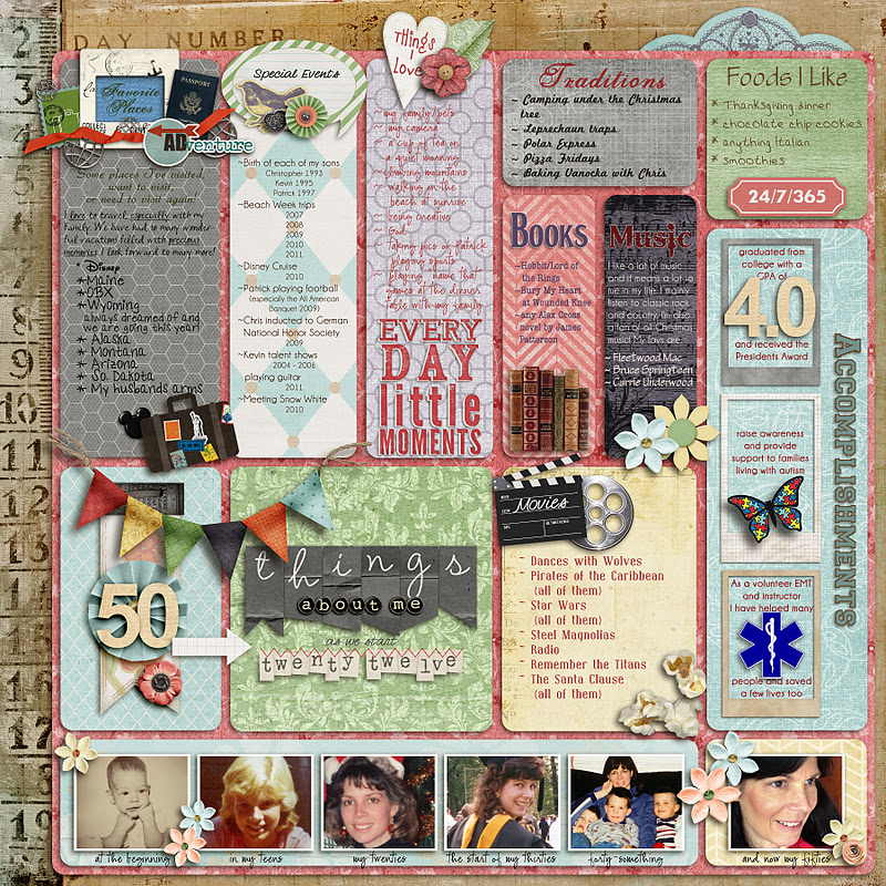 Ideas For Scrapbookers: 50 Things And 1 Sketch/Template