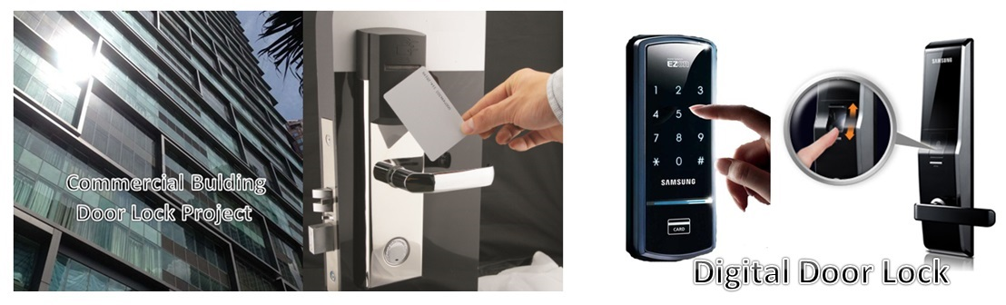 Wireless Door Access Control System Malaysia Hotel Lock