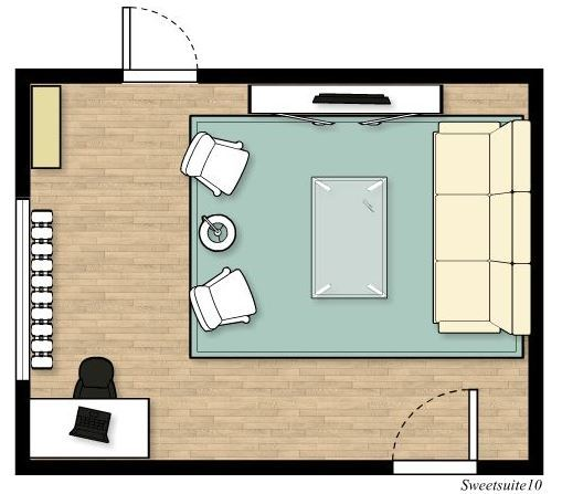 Livingroom layout option 2