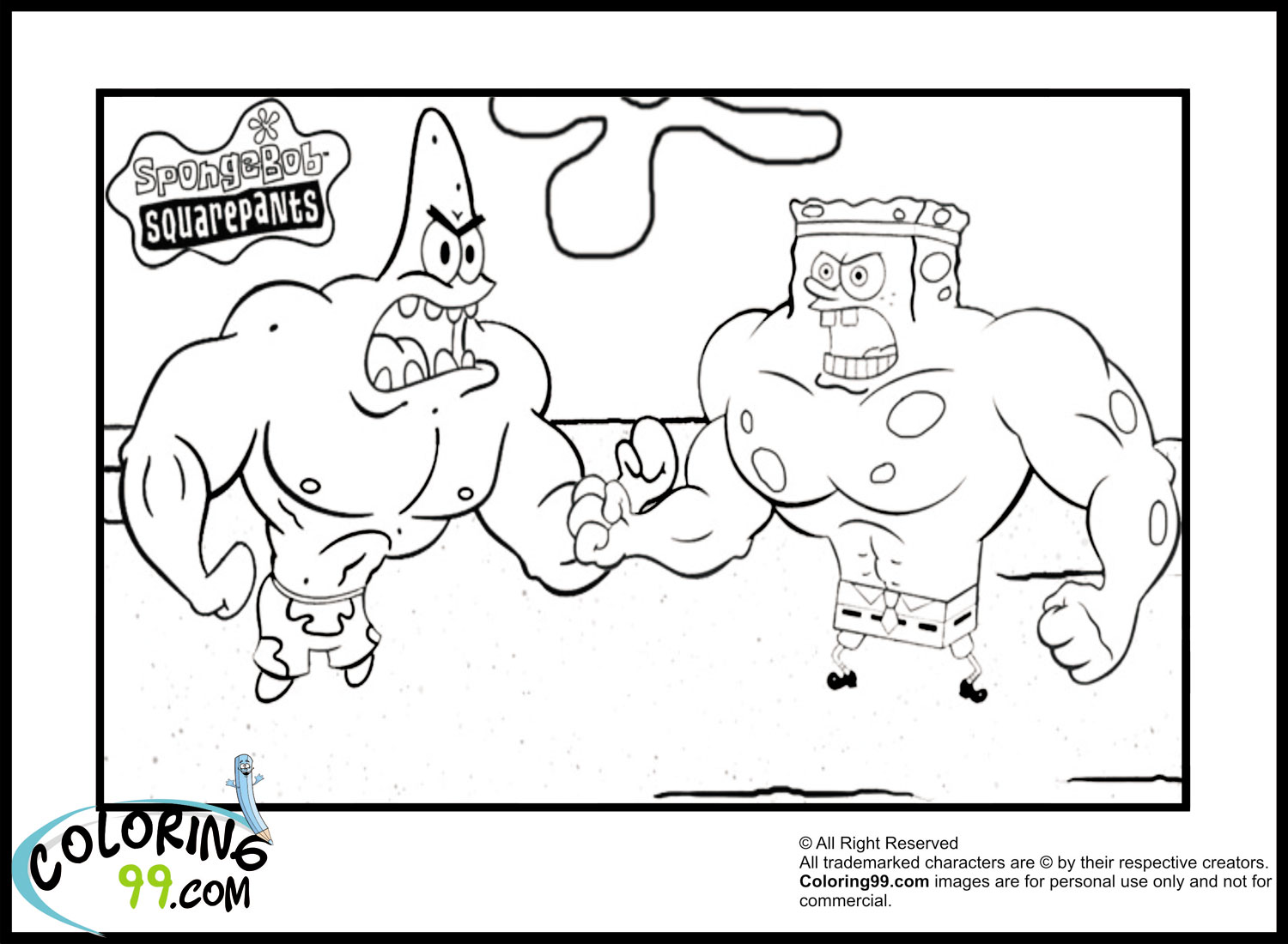 coloring pages of sopngebob - photo #46