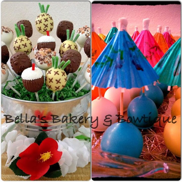 Summer Cake Pops by Bella's Bakery Boutique