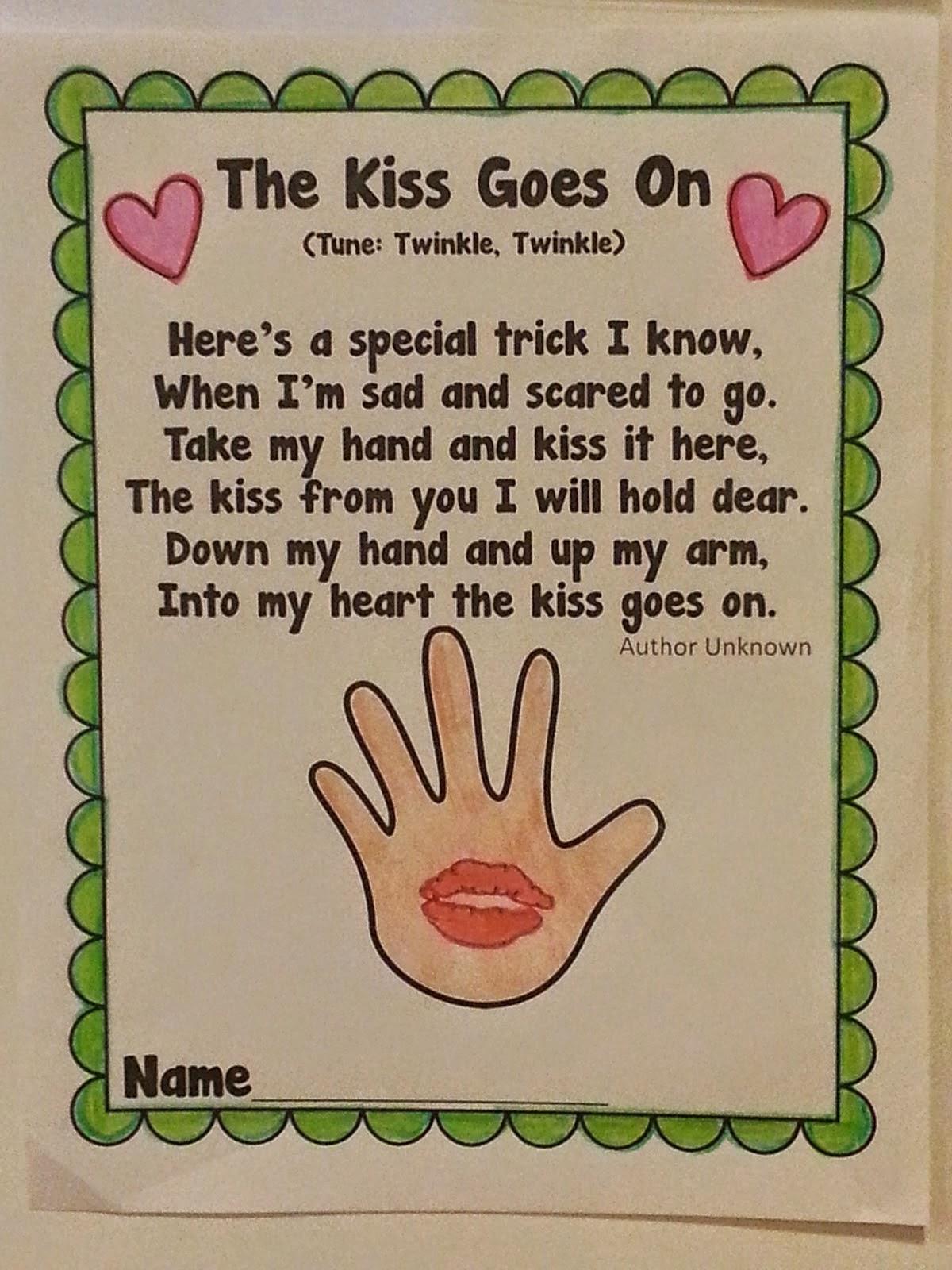 Morning Light Preschool Kissing Hand