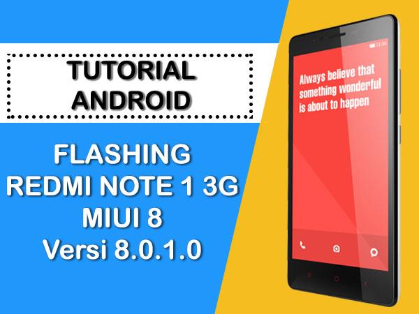 FLASHING REDMI NOTE 1 3G (MEDIATEK) VIA FLASHTOOL
