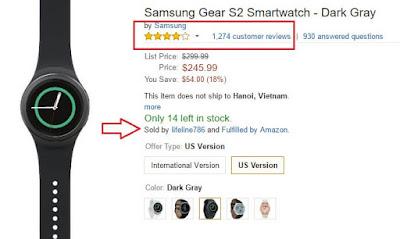 Hoàn trả sản phẩm trên Amazon