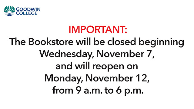 Goodwin College Student News: Bookstore Hours