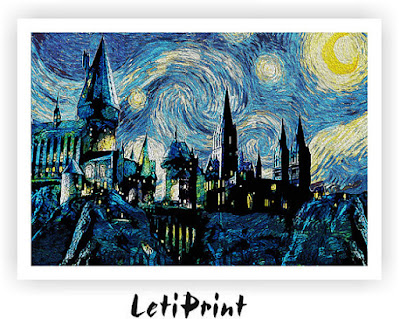 Harry Potter Starry Night on Etsy with review by Tomes and Tequila blog