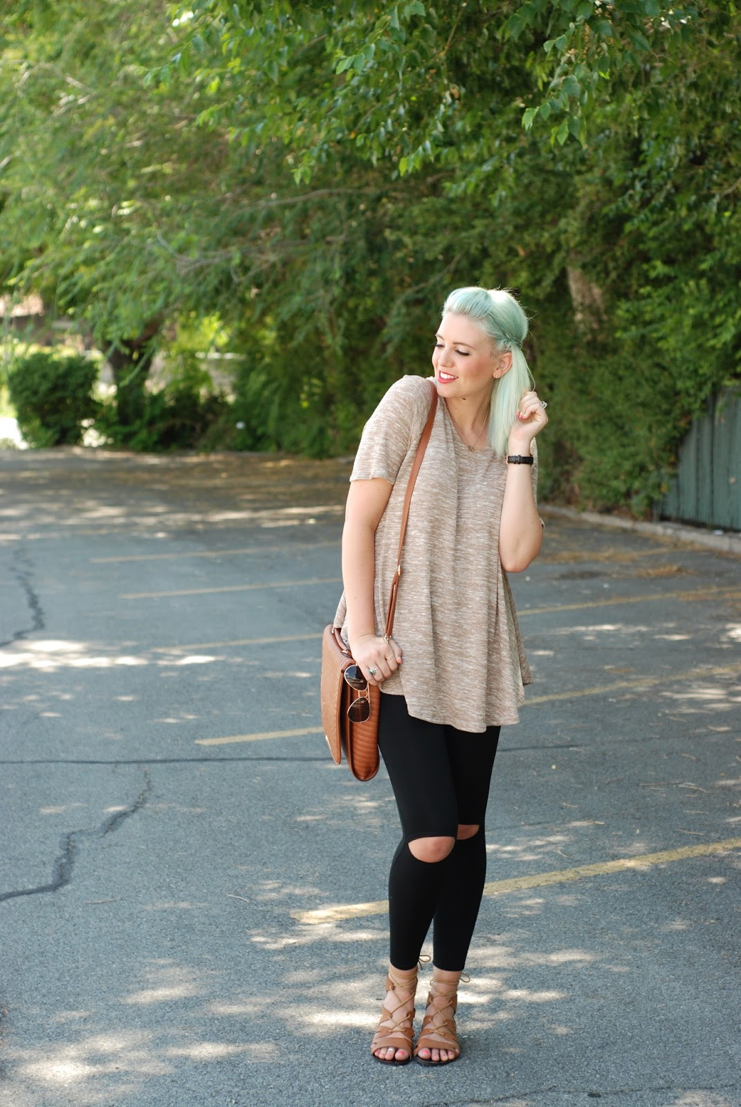 Carase Tunic, Fall Outfit, Lace Up Sandals