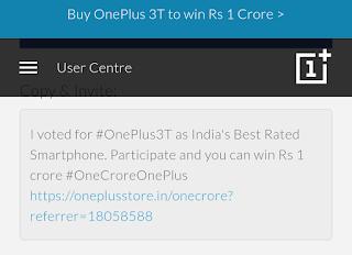 Oneplus 3T 1 crore