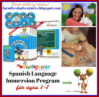 Whistlefritz~ Spanish Language Immersion Program for Kids {review}
