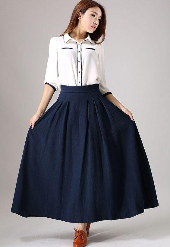 b2433365f2 Faldas largas de moda ¡20 FANTÁSTICAS IDEAS DE MODA!
