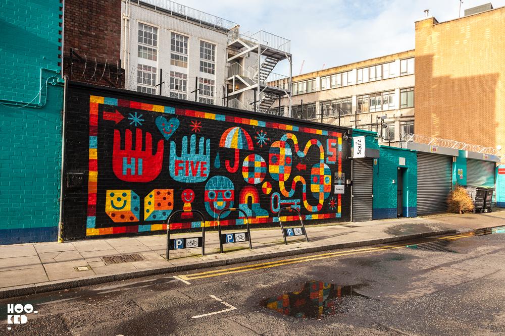 David Shillinglaw, Street Art Mural in London. Photo ©Hookedblog / Mark Rigney